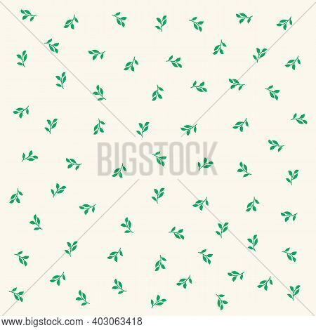 Easter Foliage Background. Spring Pattern Of Grass Trees. Spring Illustration Easter, Spring, Trees,