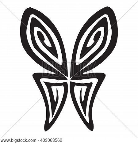 Butterfly Icon Isolated On White Background From Easter Collection. Butterfly Icon Trendy And Modern
