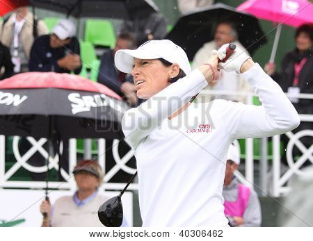 Julie Inkster (USA) at Evian Masters golf cup 2011
