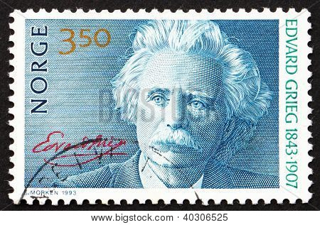 Postage Stamp Norway 1993 Edvard Grieg, Composer
