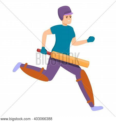 Cricket Running Icon. Cartoon Of Cricket Running Vector Icon For Web Design Isolated On White Backgr