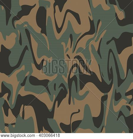 Ink Marble Camo. Abstract  Liquid Surface For Mockup Design And Background. Artistic Ebru Painting A