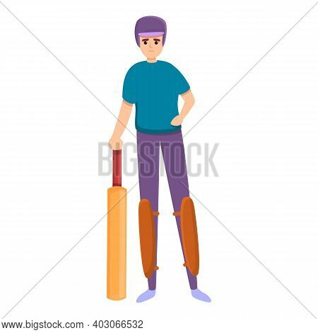 Cricket Game Icon. Cartoon Of Cricket Game Vector Icon For Web Design Isolated On White Background