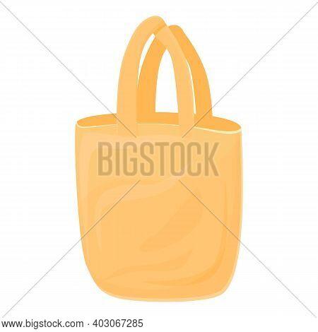 Biodegradable Plastic Handle Bag Icon. Cartoon Of Biodegradable Plastic Handle Bag Vector Icon For W