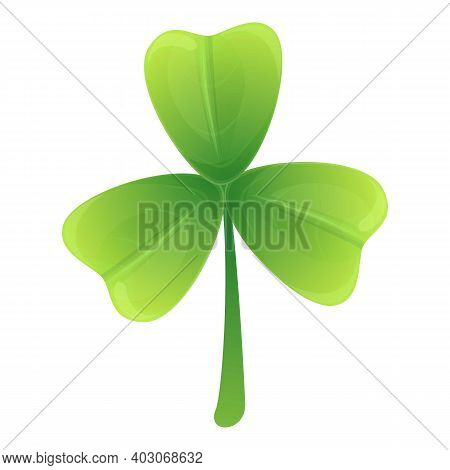 Clover Luck Icon. Cartoon Of Clover Luck Vector Icon For Web Design Isolated On White Background