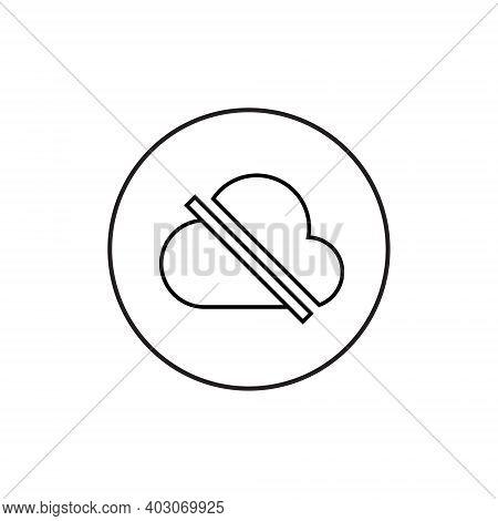 No Access Internet Icon Vector. Offline Cloud Image