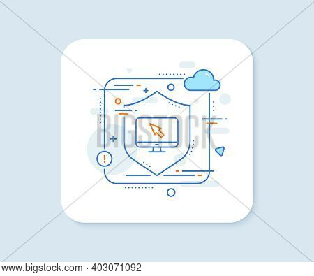 Computer Or Monitor Icon. Abstract Vector Button. Mouse Cursor Sign. Personal Computer Symbol. Inter