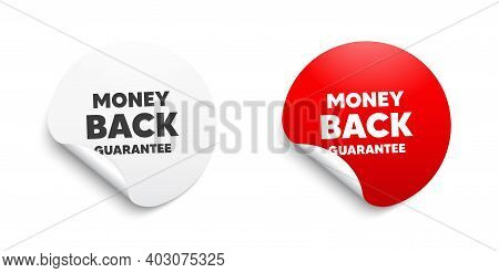 Money Back Guarantee. Round Sticker With Offer Message. Promo Offer Sign. Advertising Promotion Symb