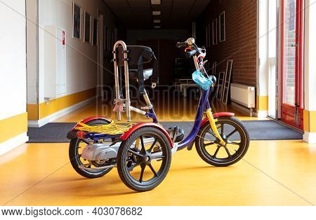 Special Bike For Disabled Children, Used To Ride Inside A Building