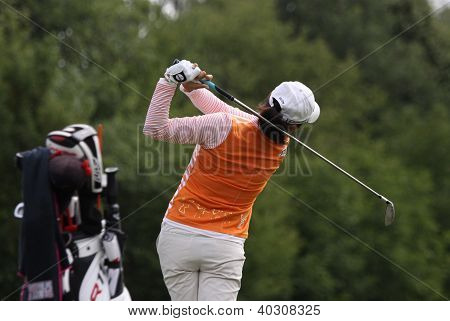 Seon Hwa Lee (KOR) at The Evian Masters golf tournament 2011