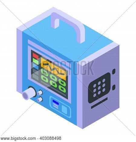 Medical Ventilator Icon. Isometric Of Medical Ventilator Vector Icon For Web Design Isolated On Whit