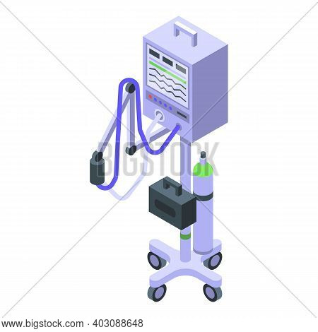 Artificial Lung Ventilation Icon. Isometric Of Artificial Lung Ventilation Vector Icon For Web Desig