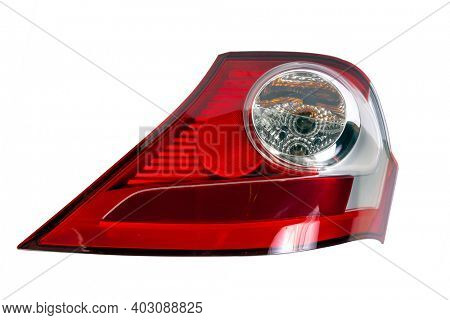 Car taillight isolated on white background