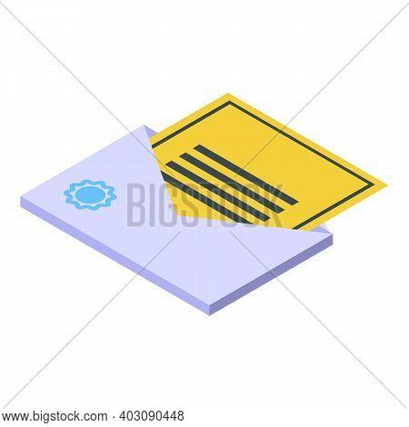 Event Invitation Icon. Isometric Of Event Invitation Vector Icon For Web Design Isolated On White Ba