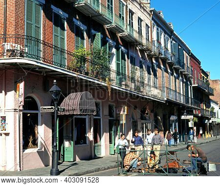 New Orleans, Usa - November 19, 1995 - Royal Street, French Quarter, New Orleans, Louisiana, Usa, No
