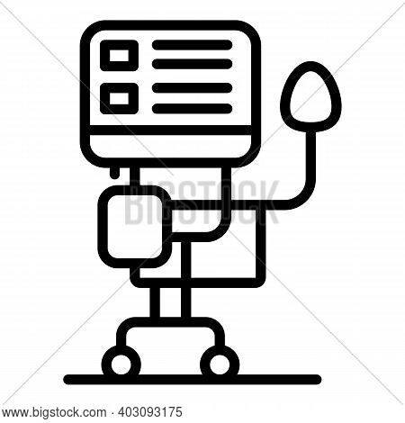 Emergency Ventilator Medical Machine Icon. Outline Emergency Ventilator Medical Machine Vector Icon