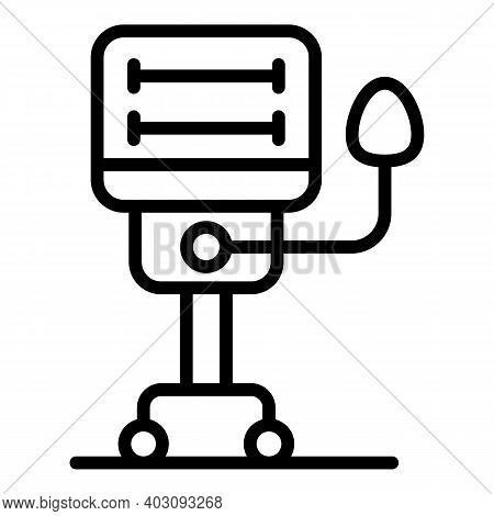 Equipment Ventilator Medical Machine Icon. Outline Equipment Ventilator Medical Machine Vector Icon