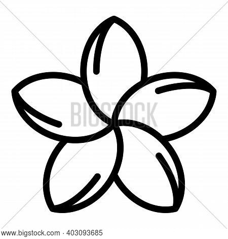 Plumeria Aloha Icon. Outline Plumeria Aloha Vector Icon For Web Design Isolated On White Background