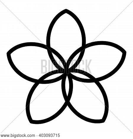 Plumeria Exotic Icon. Outline Plumeria Exotic Vector Icon For Web Design Isolated On White Backgroun