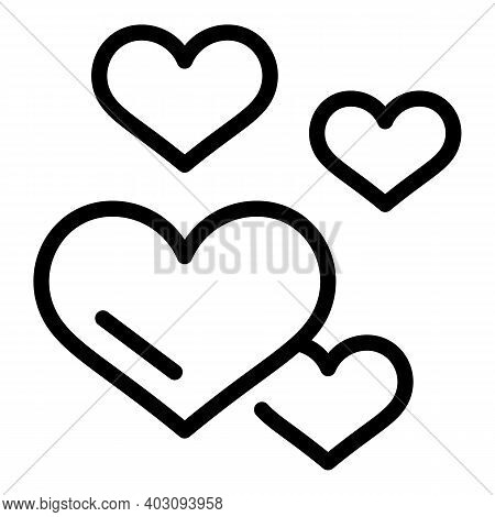 Love Human Needs Icon. Outline Love Human Needs Vector Icon For Web Design Isolated On White Backgro
