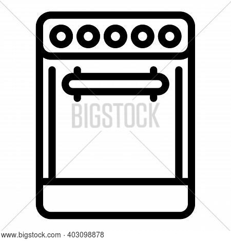 Burn Gas Stove Icon. Outline Burn Gas Stove Vector Icon For Web Design Isolated On White Background