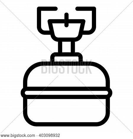 Camp Gas Stove Icon. Outline Camp Gas Stove Vector Icon For Web Design Isolated On White Background