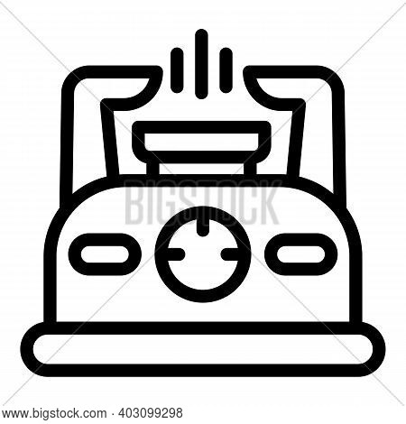 Hot Gas Stove Icon. Outline Hot Gas Stove Vector Icon For Web Design Isolated On White Background