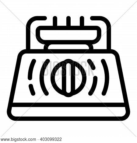 Energy Gas Stove Icon. Outline Energy Gas Stove Vector Icon For Web Design Isolated On White Backgro