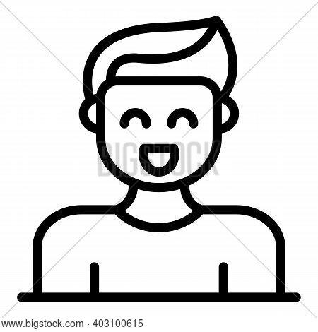 Joke Smiling Icon. Outline Joke Smiling Vector Icon For Web Design Isolated On White Background