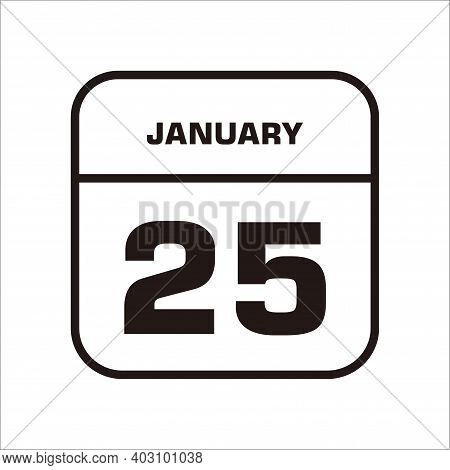 Calendar Icon 25 Isolated On White Background, Calendar Icon Vector Flat Modern, Calendar Icon, Cale