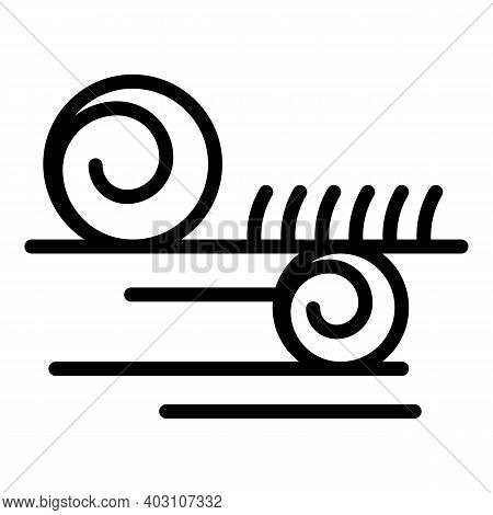 Roll Hay Icon. Outline Roll Hay Vector Icon For Web Design Isolated On White Background