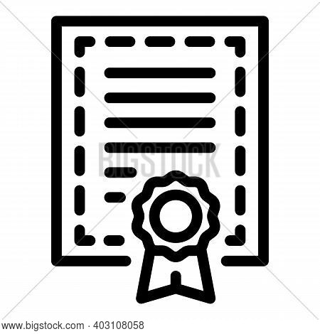 Academic Degree Icon. Outline Academic Degree Vector Icon For Web Design Isolated On White Backgroun