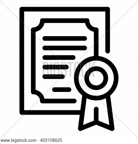 School College Diploma Icon. Outline School College Diploma Vector Icon For Web Design Isolated On W