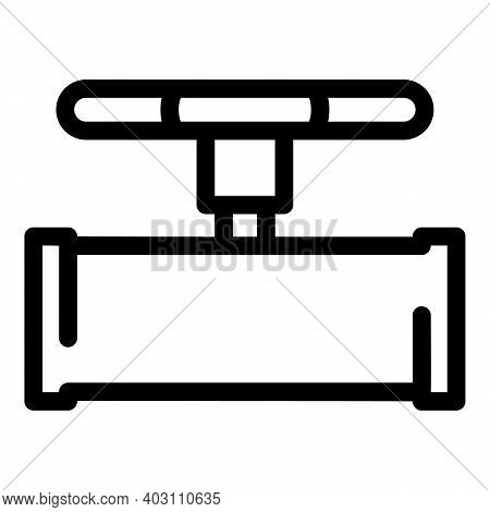 Valve Pipe Icon. Outline Valve Pipe Vector Icon For Web Design Isolated On White Background