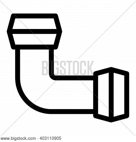 Pvc Pipe Icon. Outline Pvc Pipe Vector Icon For Web Design Isolated On White Background