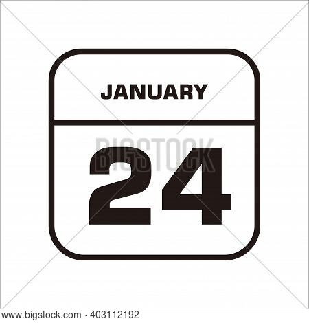 Calendar Icon 24 Isolated On White Background, Calendar Icon Vector Flat Modern, Calendar Icon, Cale
