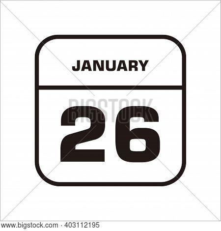 Calendar Icon 26 Isolated On White Background, Calendar Icon Vector Flat Modern, Calendar Icon, Cale