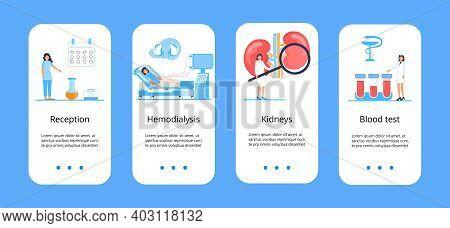 Pyelonephritis, Concept Of Cystitis Are Shown. Urolithiasis, Nephropathy App Templates, Renal Failur