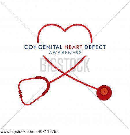 Vector Illustration Of Congenital Heart Defect Awareness Week Design