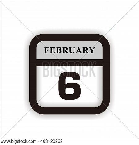Calendar Icon 6 Isolated On White Background, Calendar Icon Vector Flat Modern, Calendar Icon, Calen
