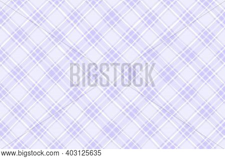 Light Lilac White Lavender Violet Faded Vintage Checkered Background. Space For Graphic Design. Chec
