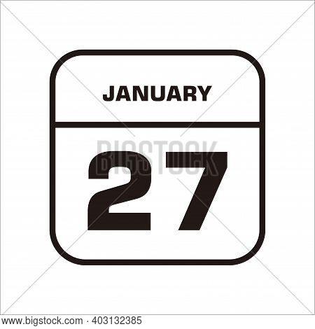 Calendar Icon 27 Isolated On White Background, Calendar Icon Vector Flat Modern, Calendar Icon, Cale