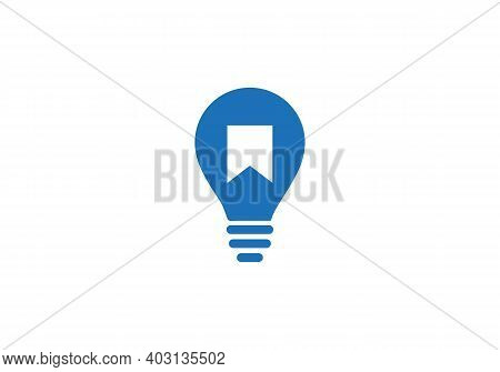 Bookmark Icon Isolated On White Background. Bookmark Icon In Trendy Design Style With Electric Bulb