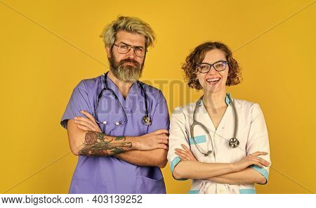 Private Clinic. Doctors Team. Medical Education. Evidence Based Medicine. Medical Staff People. Team