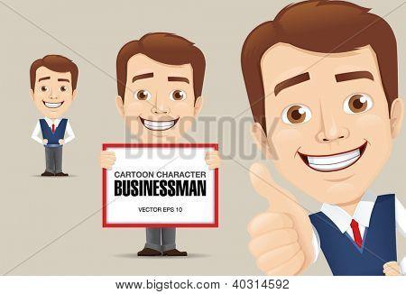 Vector illustration of Businessman Cartoon Character