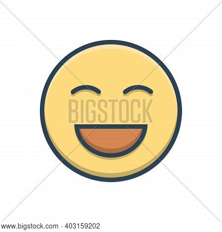 Color Illustration Icon For Laugh Laughter Jibe Ridicule