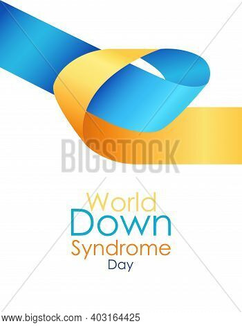 World Down Syndrome Day Modern Poster On March 21. International Symbol Of Disease Down Syndrome On