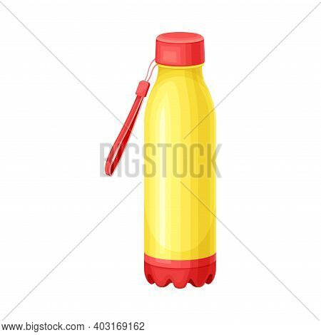 Sustainable Water Bottle As Everyday Reused Object Vector Illustration