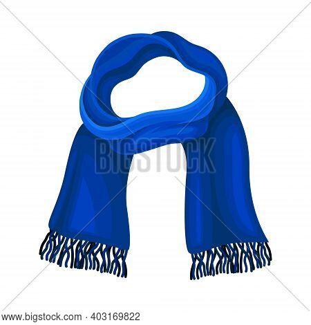 Winter Scarf As Seasonal Neckwear For Keeping Warm Vector Illustration