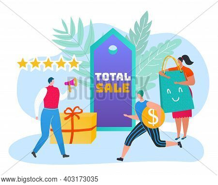 Total Big Online Sale Discount, People Together Running To Internet Clearance, Character Male Female